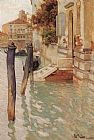 Fritz Thaulow On The Grand Canal, Venice painting