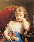 young girl on a Framed Prints - Young Girl Holding a Doll