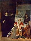 Gabriel Metsu Visit of the Physician painting