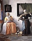 Gabriel Metsu Woman Reading a Letter painting