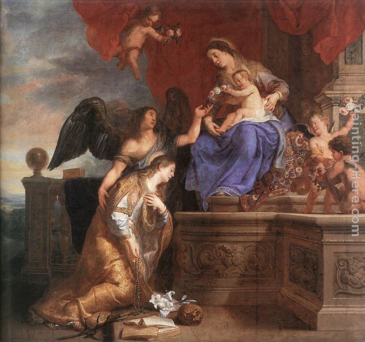 Gaspard de Crayer The Coronation of St Rosalie