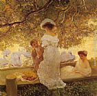 Gaston de Latouche The Boating Party painting