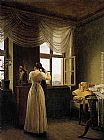 Georg Friedrich Kersting At the Mirror painting