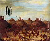 George Catlin The Last Race, Mandan O-Kee-Pa Ceremony painting