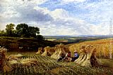 George Cole Snr Harvest Field painting