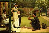 George Dunlop, R.A., Leslie The Goldfish Seller painting