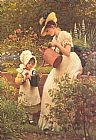 George Dunlop, R.A., Leslie The Young Gardener painting