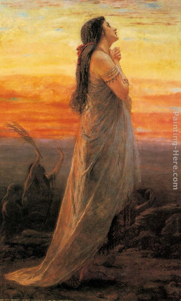 George Elgar Hicks The Lament of Jephthah's Daughter