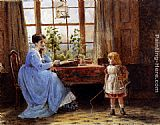 George Goodwin Kilburne A Mother And Child In An Interior painting