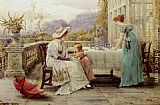 George Goodwin Kilburne Afternoon Tea painting