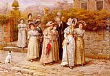 George Goodwin Kilburne Miss Pinkertons Academy painting