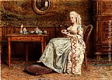 George Goodwin Kilburne Taking Tea painting