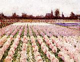 George Hitchcock Field of Flowers painting