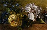 George Jacobus Johannes Van Flowers on a Ledge painting