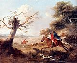 George Morland Full Cry painting