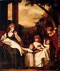George Romney Portrait Of Charlotte Bosanquet With Her Five Elder Children painting