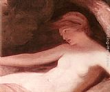 George Romney Reclining Female Nude painting