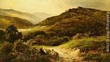 George Turner A Sandy Road Near Grundleford Bridge Derbyshire painting