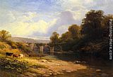 George Vicat Cole Staveton Bridge, Devon painting