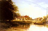 George Vicat Cole The Swan at Pangbourne painting