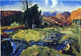 George Wesley Bellows Autumn Brook painting