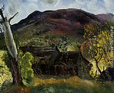 George Wesley Bellows Blasted Tree and Deserted House painting