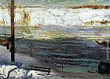 George Wesley Bellows Floating Ice painting