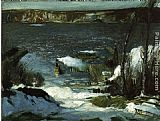 George Wesley Bellows North River painting