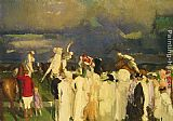 George Wesley Bellows Polo Crowd painting