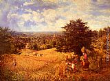 George William Mote Harvest Time painting