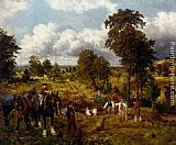 George William Mote The garden of England painting