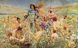 Georges Antoine Rochegrosse The Knight of the Flowers painting