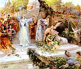 Georges Jules Victor Clairin La Fete Fleurie painting