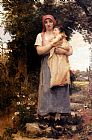 Georges Laugee A Mother Holding Her Child painting