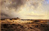 Georges Michel An Extensive Landscape with a Stormy Sky painting
