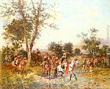 Georges Washington Cavaliers Arabes A L'Abreuvoir painting