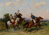 Georges Washington La Chasse au Faucon painting