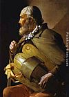 Georges de La Tour Hurdy-Gurdy Player with a Ribbon painting