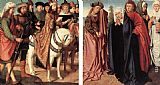 Gerard David Pilate's Dispute with the High Priest; The Holy Women and St John at Golgotha painting