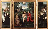 Gerard David Triptych of Jan Des Trompes painting
