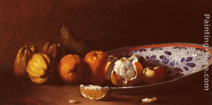 Germain Theodure Clement Ribot Nature Morte Aux Fruits
