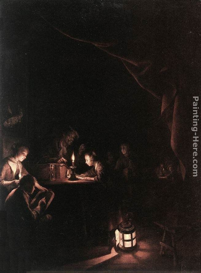 Gerrit Dou The Evening School
