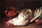 Giacomo Ceruti Still-Life with Hen, Onion and Pot painting