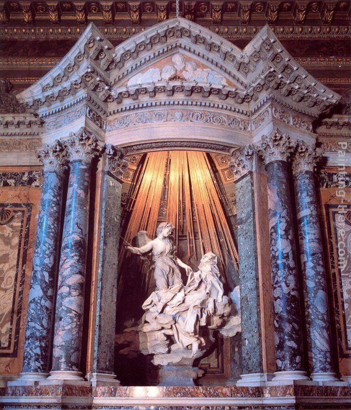 Paintings - Gian Lorenzo Bernini The Ecstasy of Saint Teresa PaintingBernini St Teresa Painting