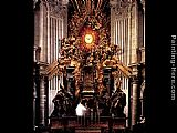 Gian Lorenzo Bernini The Chair of Saint Peter painting