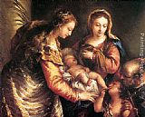 Giovanni Antonio Guardi Holy Family with St John the Baptist and St Catherine painting