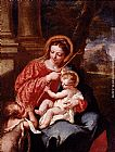 Giovanni Antonio Guardi Madonna And Child With Saint John The Baptist painting