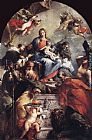 Giovanni Antonio Guardi Madonna and Child with Saints painting