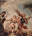 Giovanni Antonio Guardi The Departure of Tobias painting