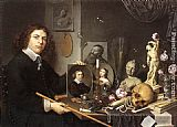 Giovanni Baglione Self-portrait With Vanitas Symbols painting